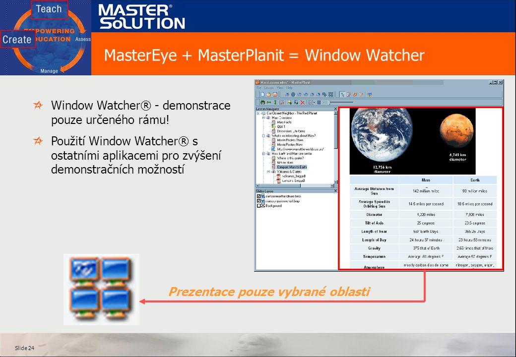 MasterEye + MasterPlanit = Window Watcher
