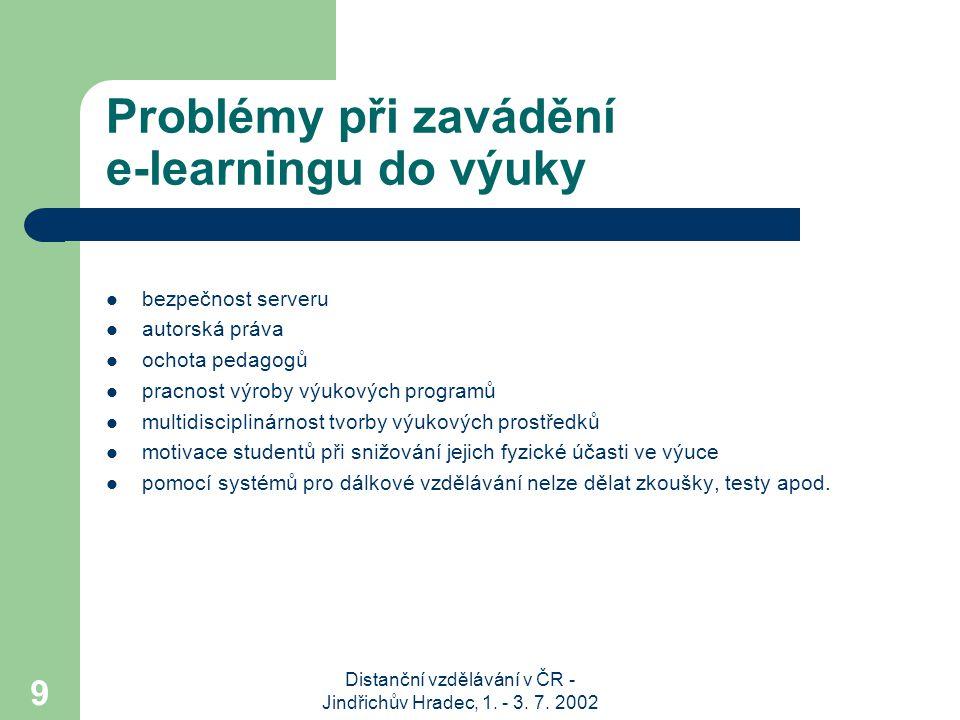 Problémy při zavádění e-learningu do výuky