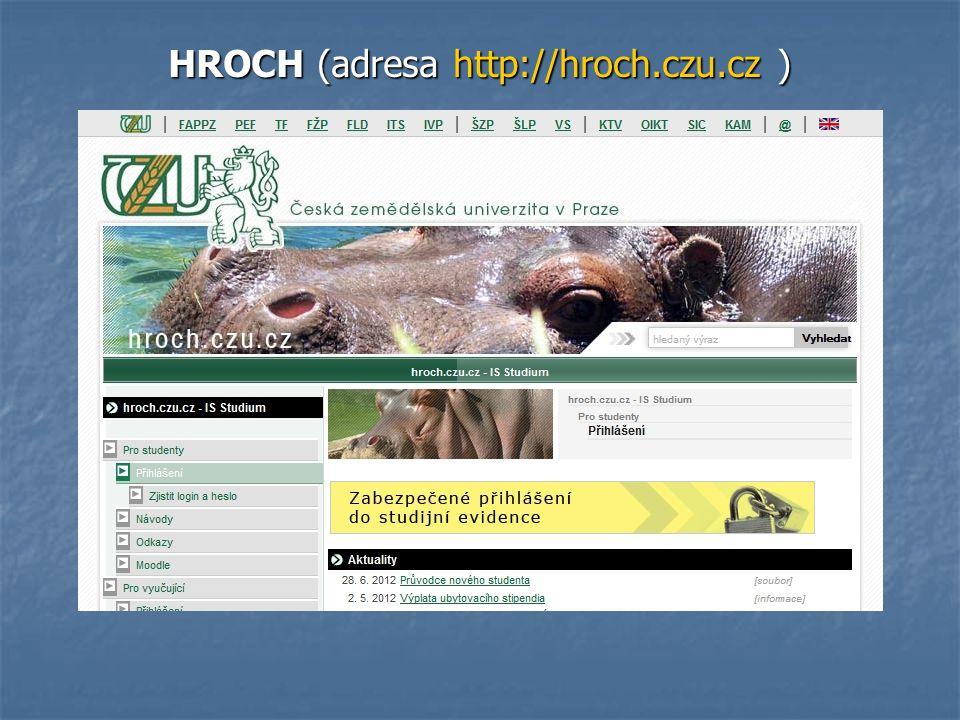 HROCH (adresa http://hroch.czu.cz )