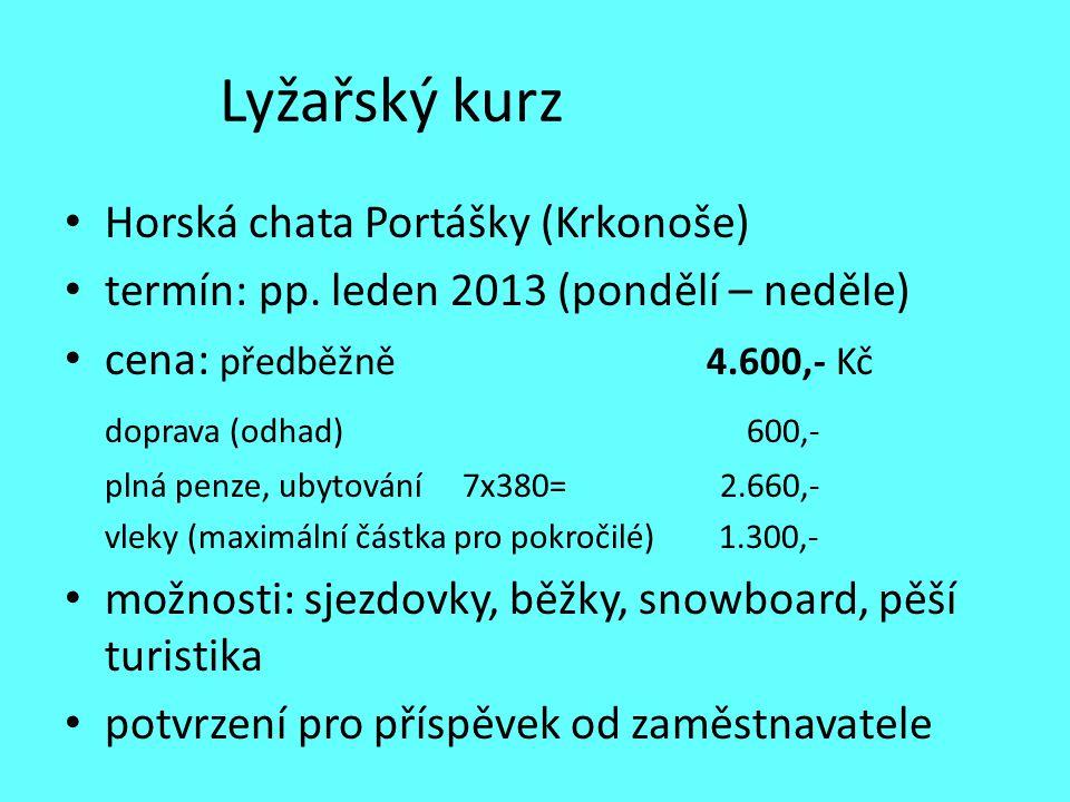 Lyžařský kurz Horská chata Portášky (Krkonoše)