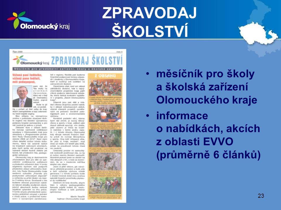 ZPRAVODAJ ŠKOLSTVÍ měsíčník pro školy a školská zařízení Olomouckého kraje.
