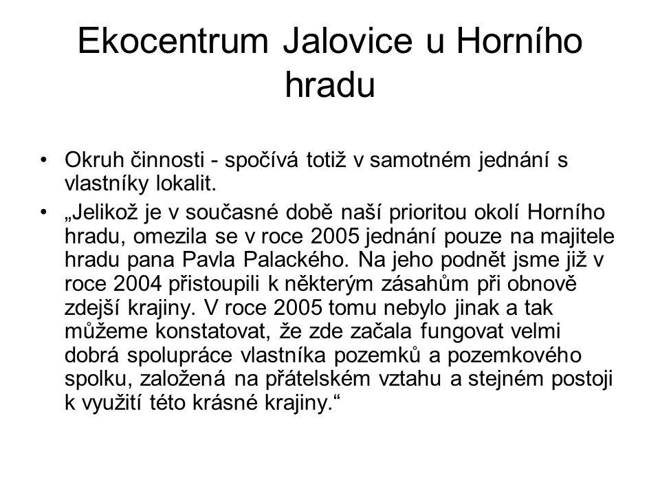 Ekocentrum Jalovice u Horního hradu