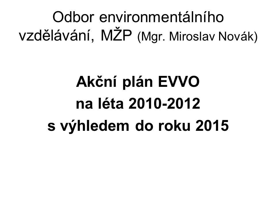 Odbor environmentálního vzdělávání, MŽP (Mgr. Miroslav Novák)