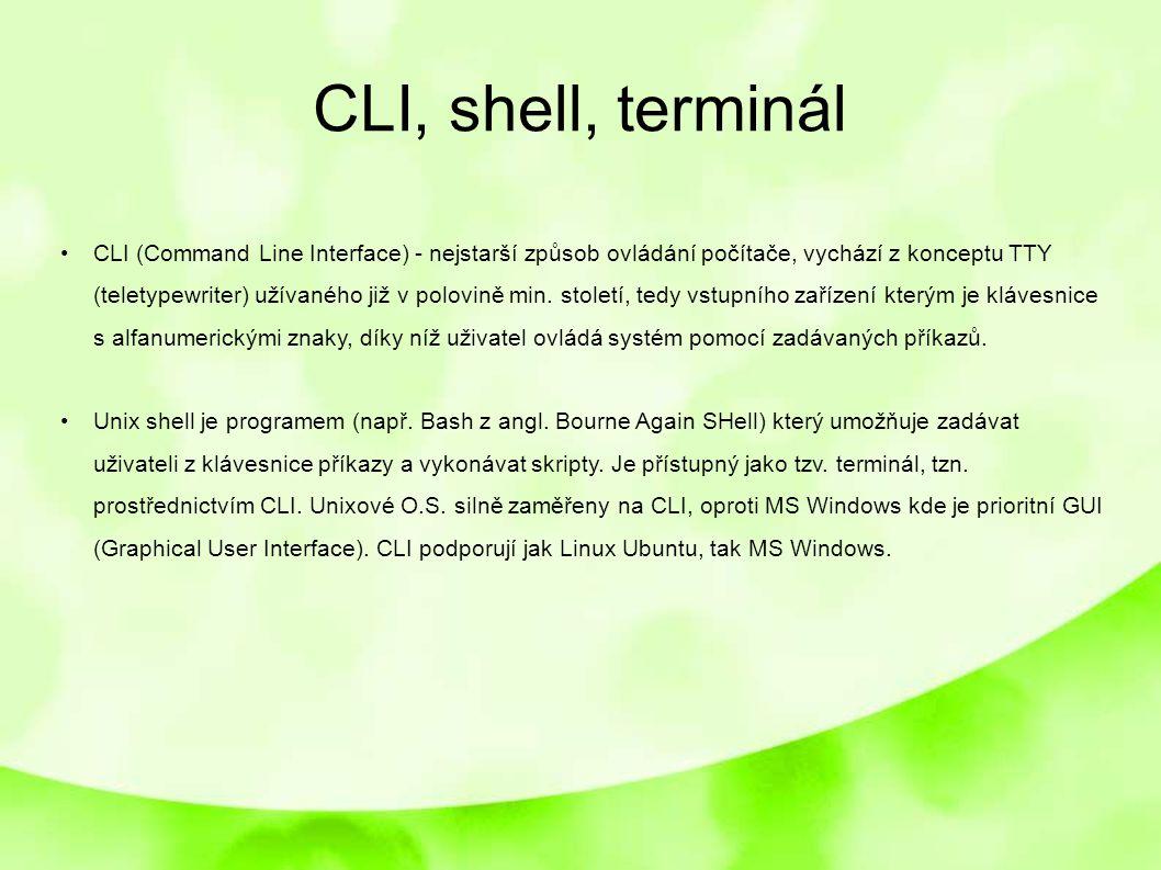 CLI, shell, terminál