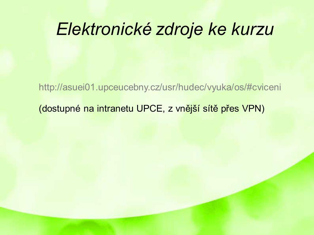 Elektronické zdroje ke kurzu