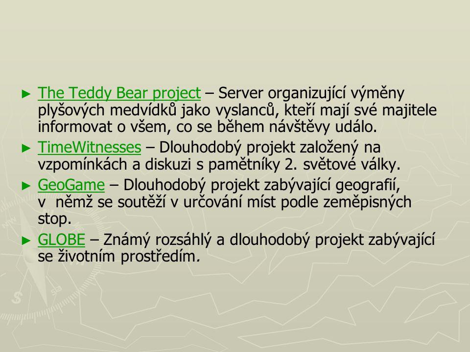 The Teddy Bear project – Server organizující výměny plyšových medvídků jako vyslanců, kteří mají své majitele informovat o všem, co se během návštěvy událo.