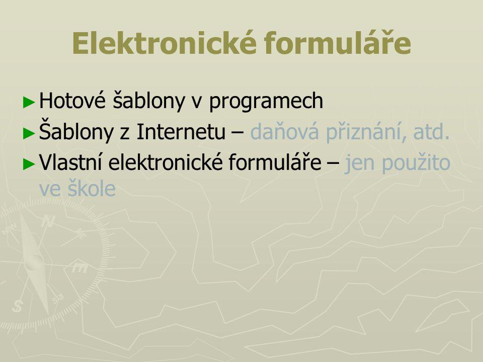 Elektronické formuláře
