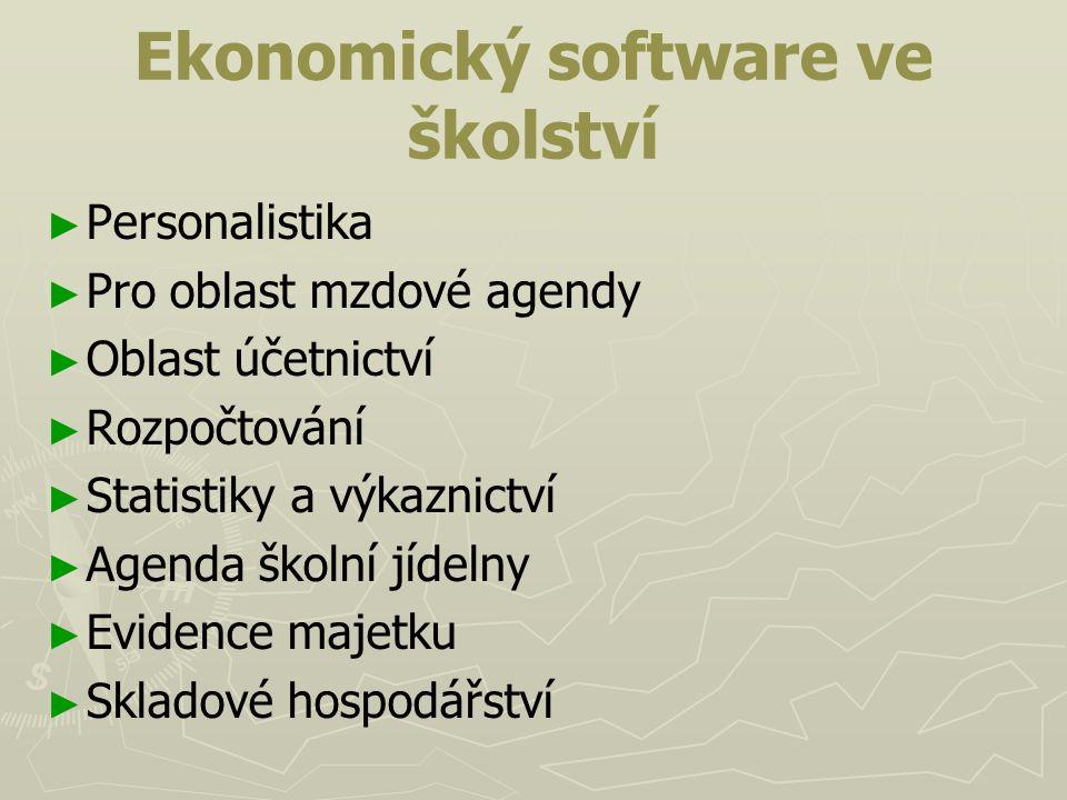 Ekonomický software ve školství
