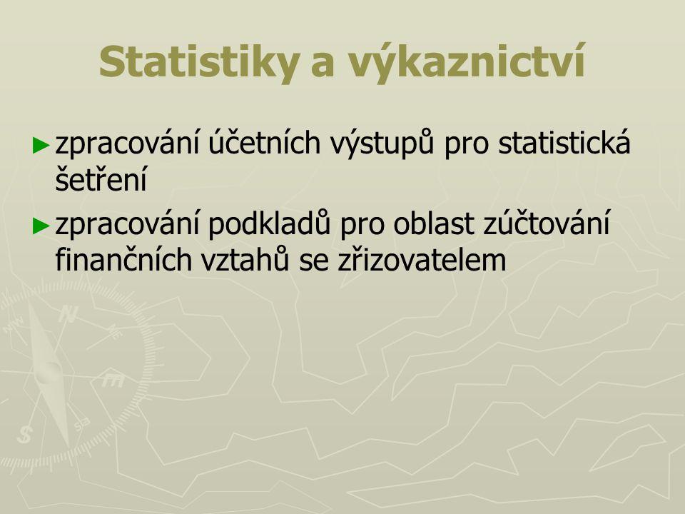 Statistiky a výkaznictví