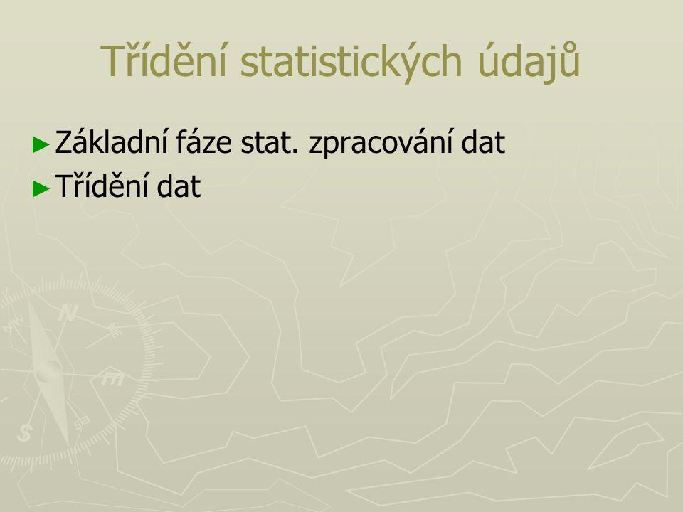 Třídění statistických údajů