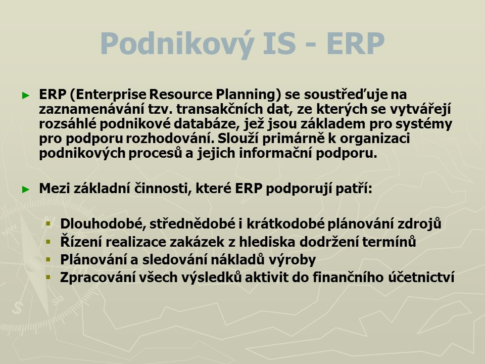 Podnikový IS - ERP