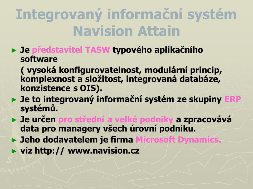 Integrovaný informační systém Navision Attain