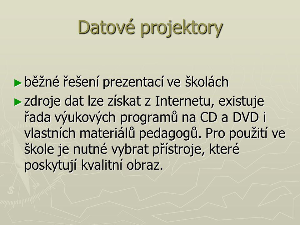 Datové projektory běžné řešení prezentací ve školách