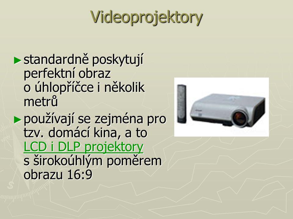 Videoprojektory standardně poskytují perfektní obraz o úhlopříčce i několik metrů.