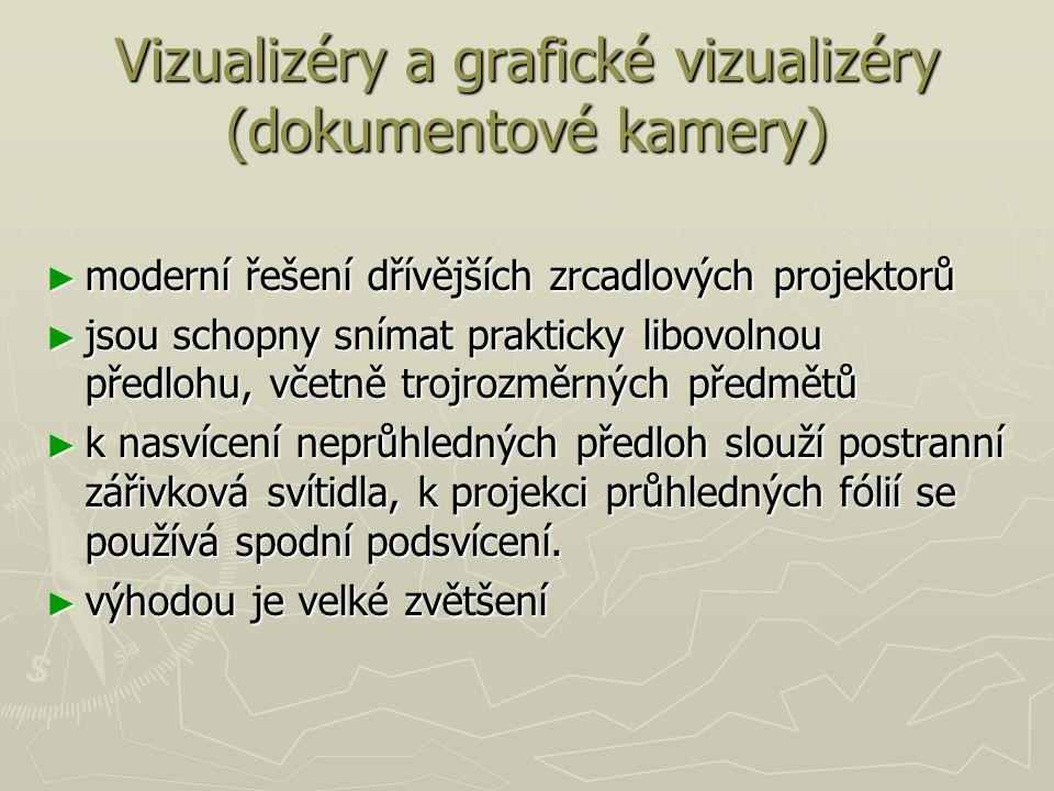 Vizualizéry a grafické vizualizéry (dokumentové kamery)
