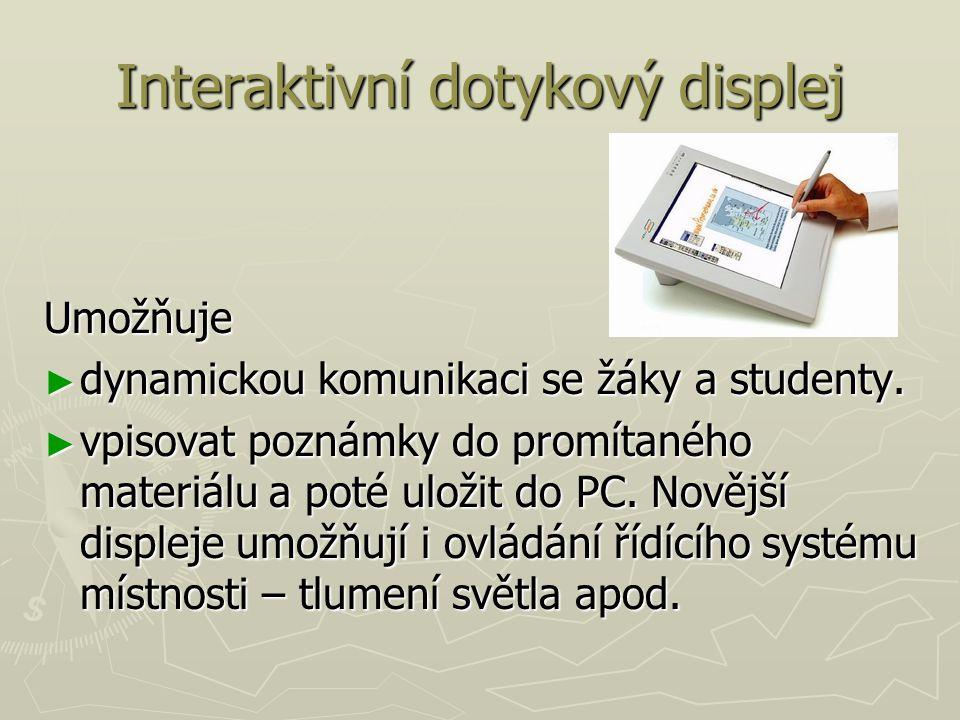 Interaktivní dotykový displej