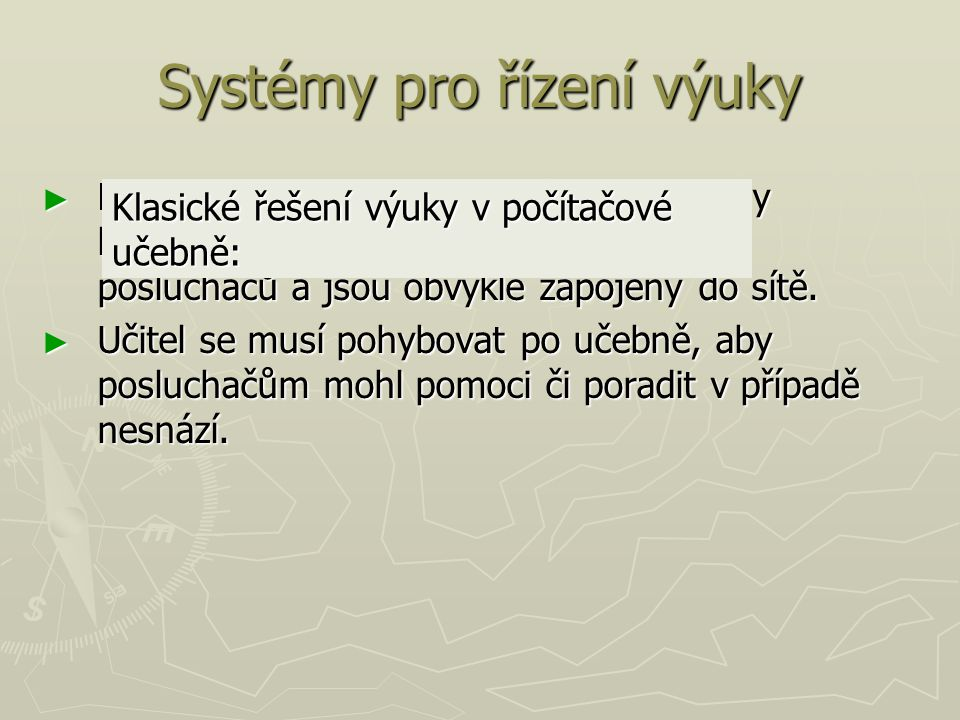Systémy pro řízení výuky