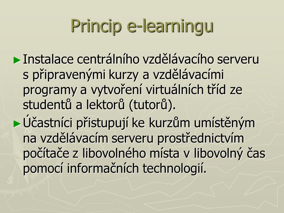 Princip e-learningu