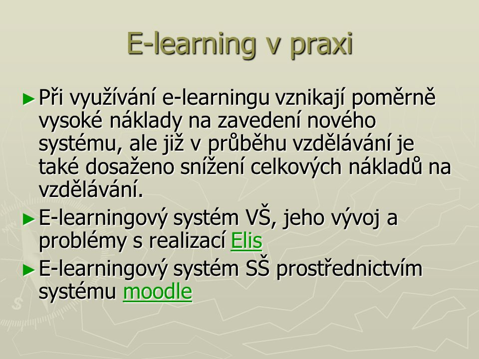 E-learning v praxi
