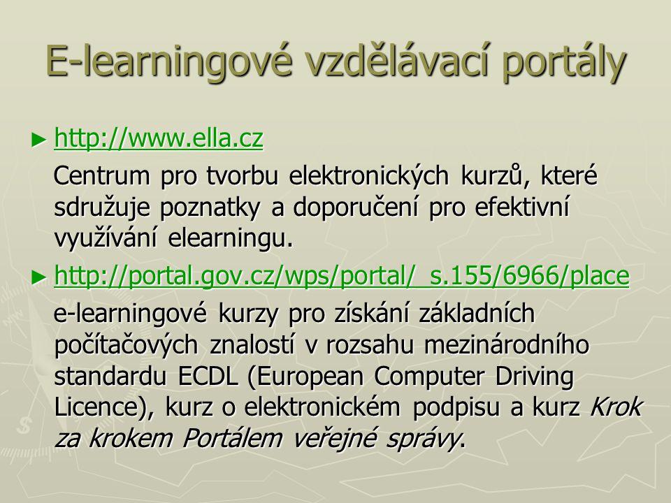 E-learningové vzdělávací portály