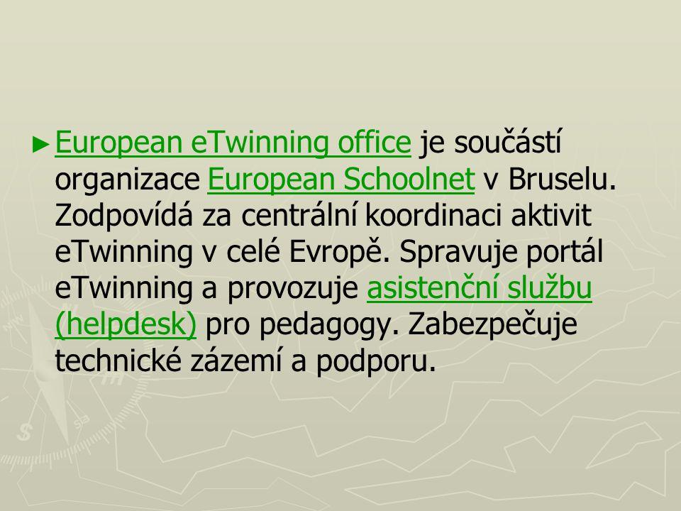 European eTwinning office je součástí organizace European Schoolnet v Bruselu.