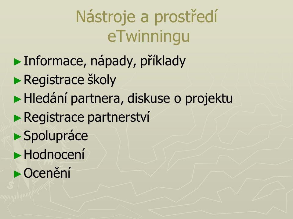 Nástroje a prostředí eTwinningu