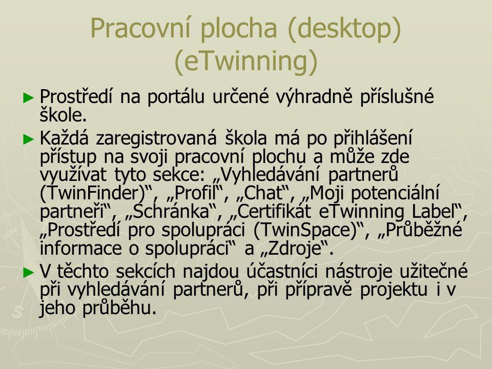 Pracovní plocha (desktop) (eTwinning)