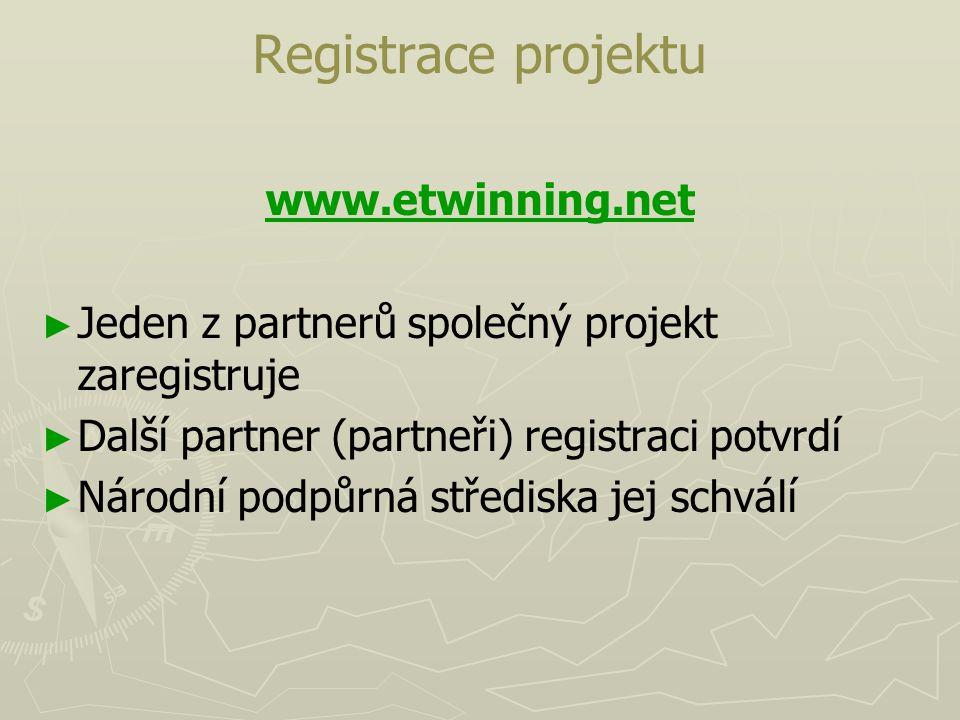 Registrace projektu www.etwinning.net