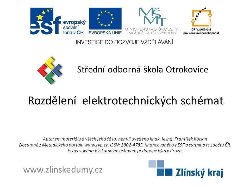 Rozdělení elektrotechnických schémat