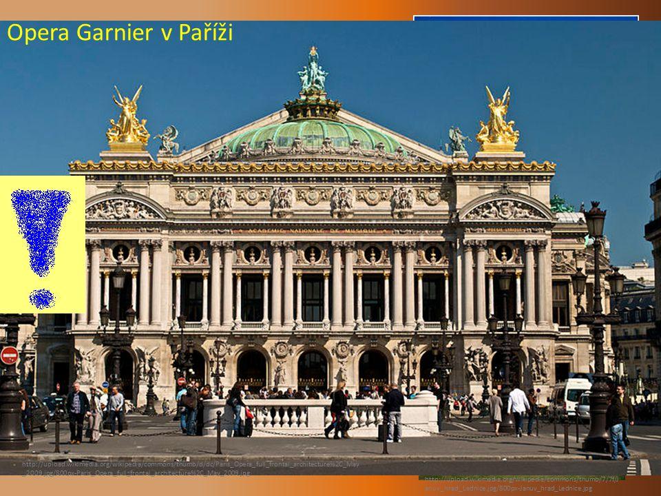 NEORENESANCE : Opera Garnier v Paříži Opéra Garnier v Paříži