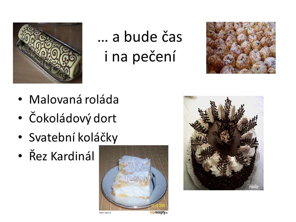 … a bude čas i na pečení Malovaná roláda Čokoládový dort
