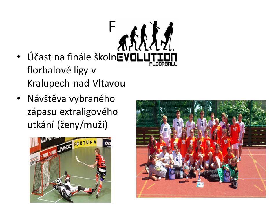 FLORBAL Účast na finále školní florbalové ligy v Kralupech nad Vltavou