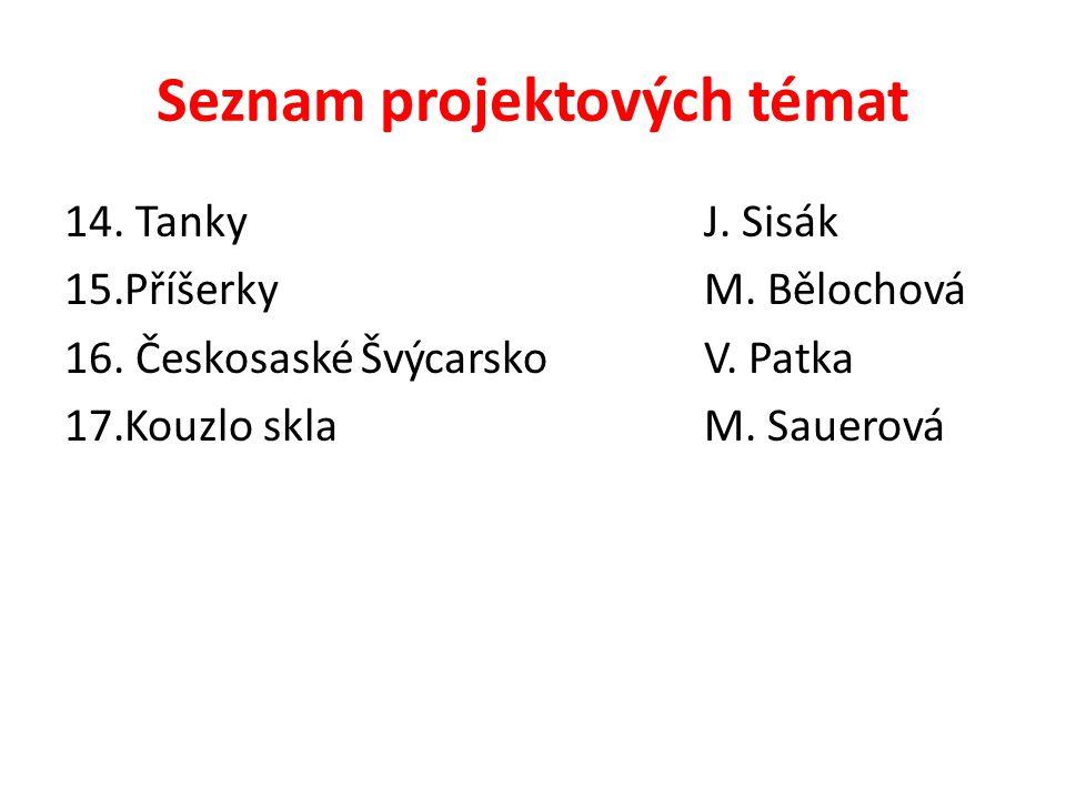 Seznam projektových témat