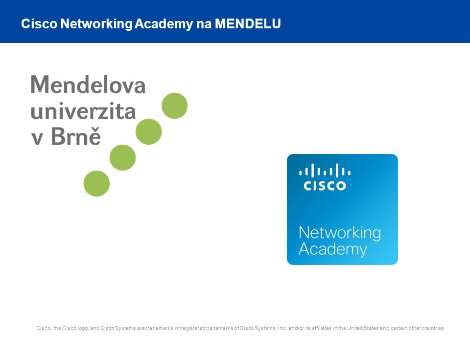 Cisco Networking Academy na MENDELU