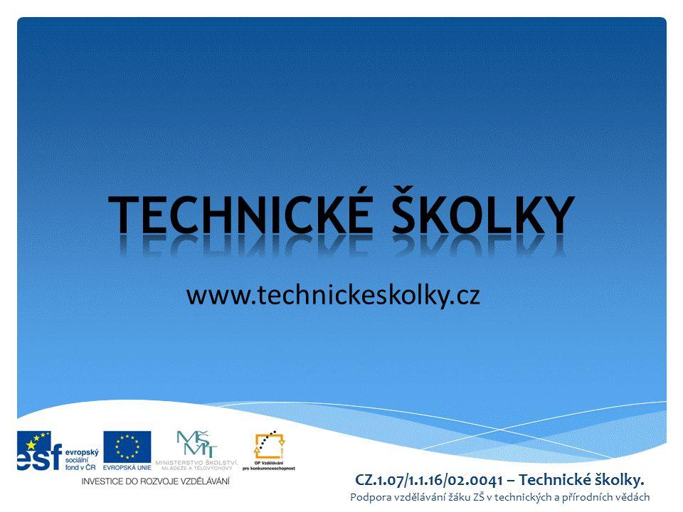 TECHNICKÉ ŠKOLKY www.technickeskolky.cz
