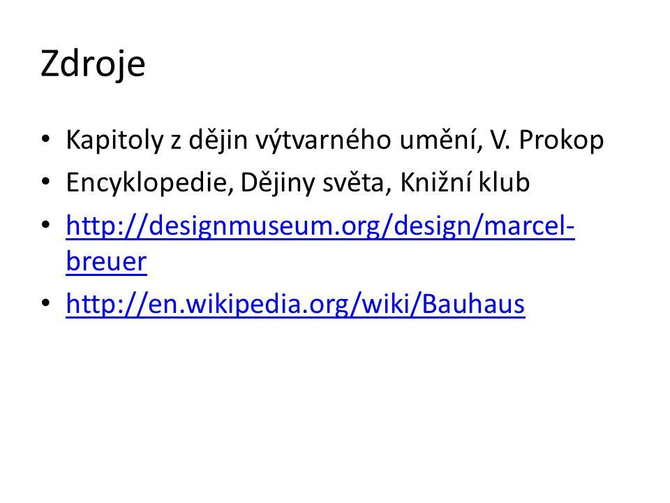 Zdroje Kapitoly z dějin výtvarného umění, V. Prokop