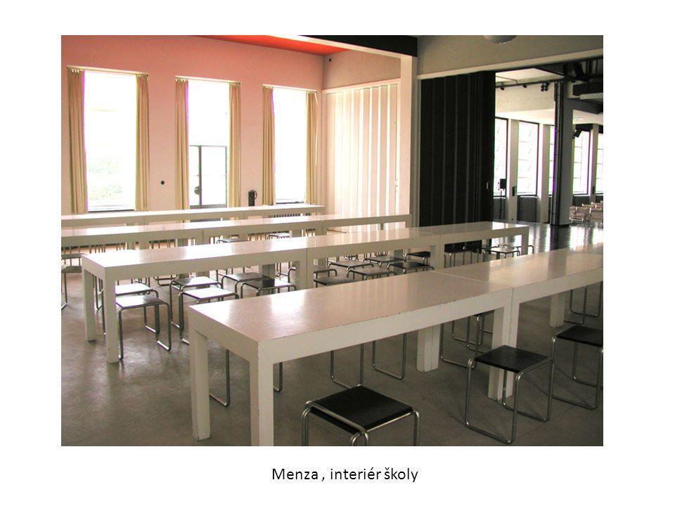Menza , interiér školy