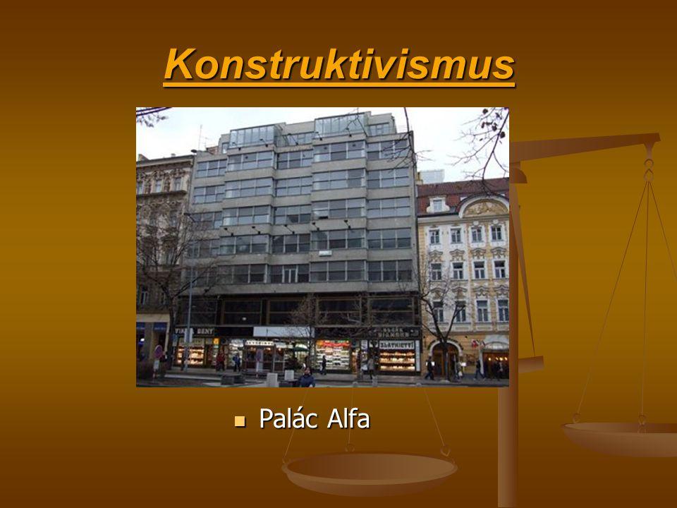 Konstruktivismus Palác Alfa
