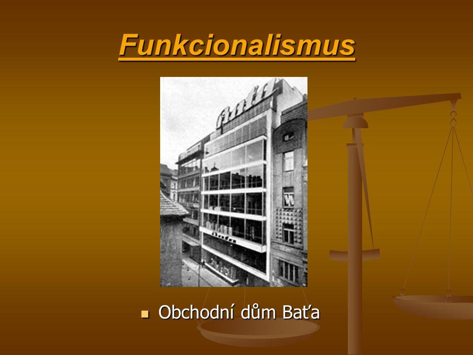 Funkcionalismus Obchodní dům Baťa