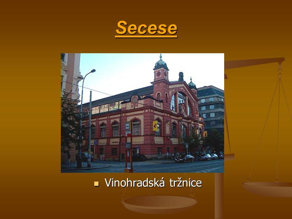 Secese Vinohradská tržnice