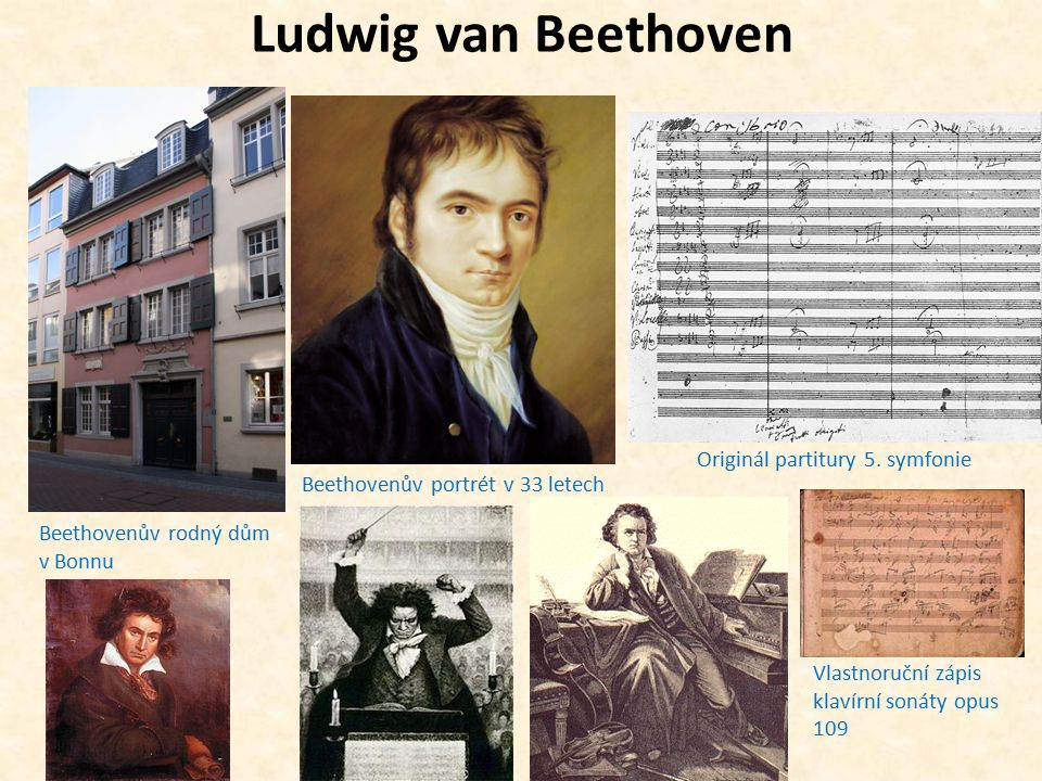 Originál partitury 5. symfonie