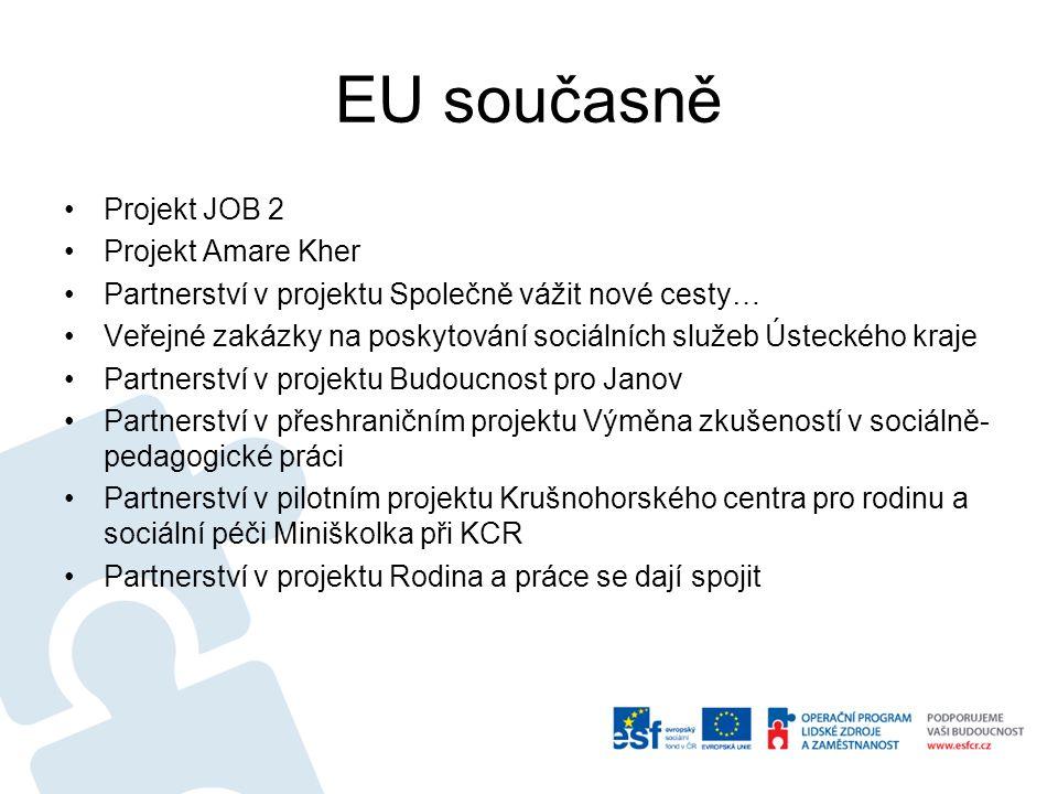 EU současně Projekt JOB 2 Projekt Amare Kher