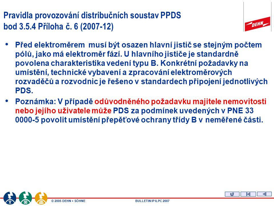 Pravidla provozování distribučních soustav PPDS bod 3. 5. 4 Příloha č