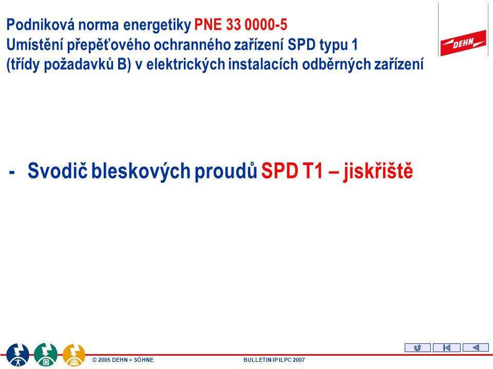 - Svodič bleskových proudů SPD T1 – jiskřiště
