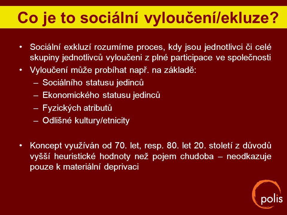 Co je to sociální vyloučení/ekluze