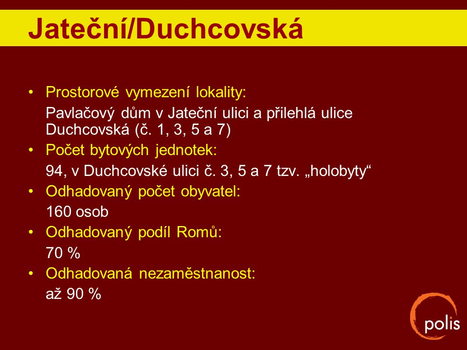 Jateční/Duchcovská Prostorové vymezení lokality: