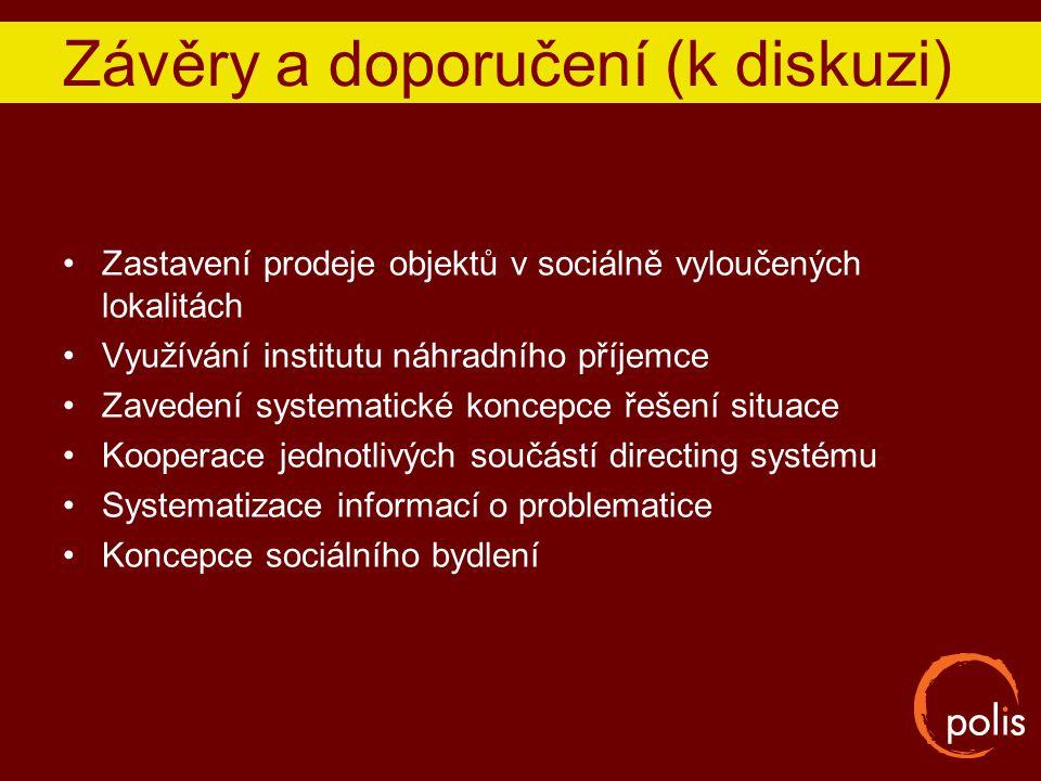 Závěry a doporučení (k diskuzi)