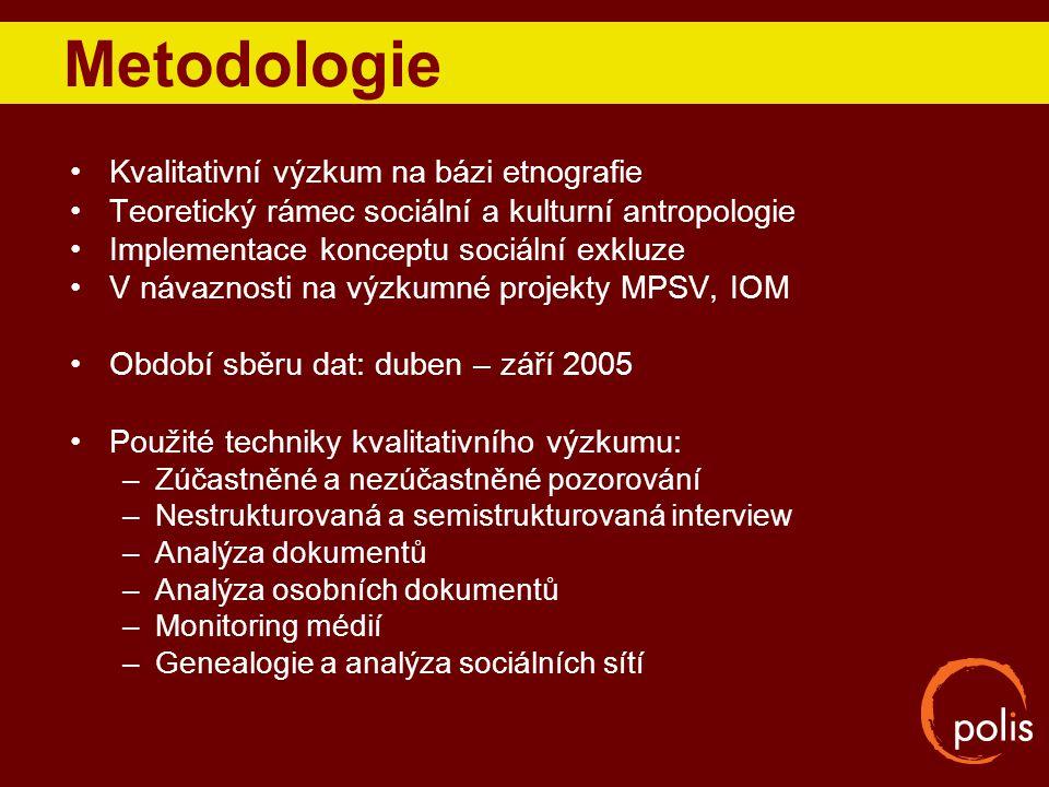 Metodologie Kvalitativní výzkum na bázi etnografie