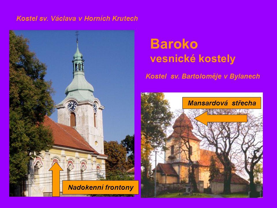 Baroko vesnické kostely Kostel sv. Václava v Horních Krutech