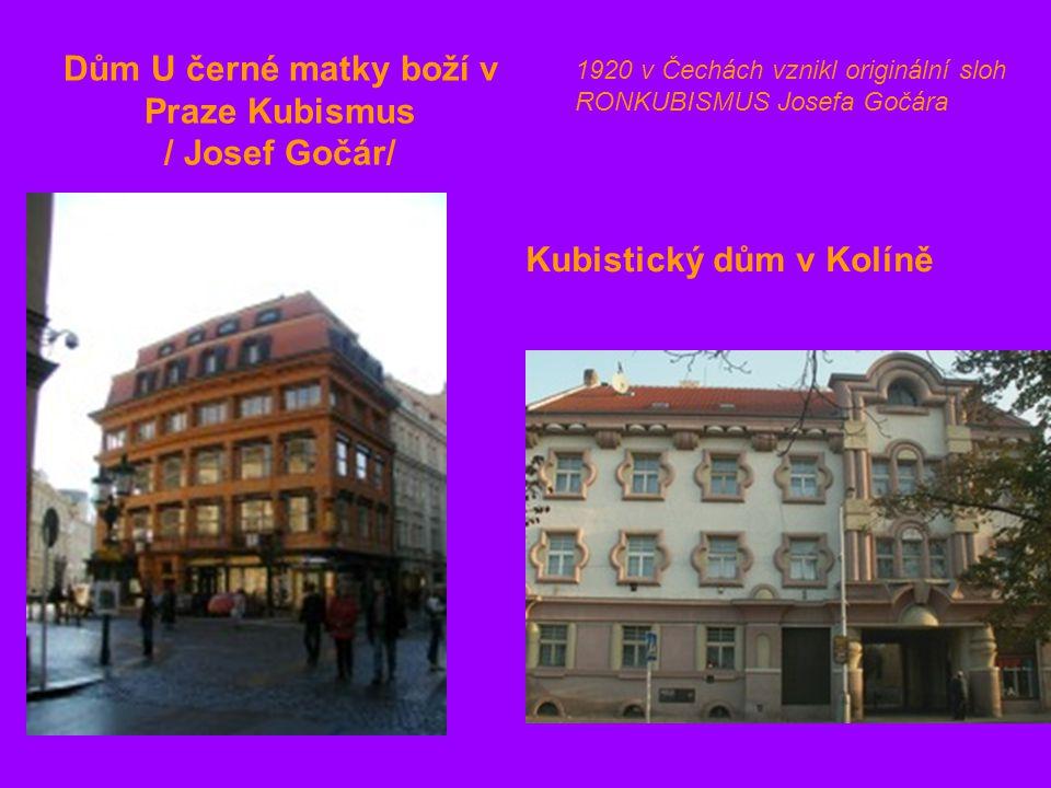 Dům U černé matky boží v Praze Kubismus / Josef Gočár/